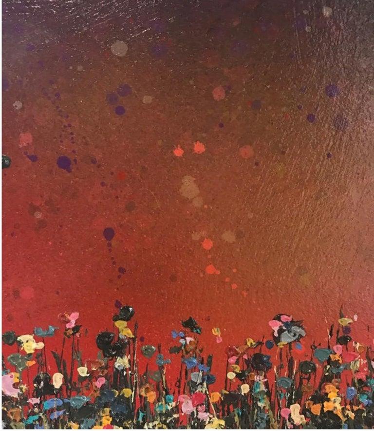 Purple Sunfall - Painting by Lee Herring