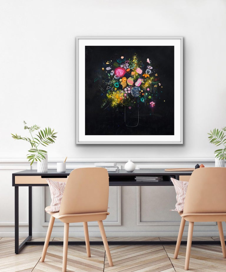 Lee Herring, Glowing Rose, Contemporary Art, Limited Edition Print For Sale 2
