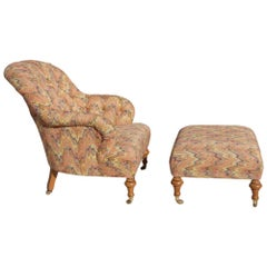 Lee Jofa Lounge Chair with Ottoman H4311