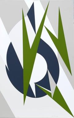 Embrace, Geometric Abstract Silkscreen by Lee Krasner Pollock 1974
