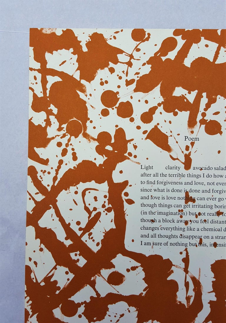 Poem - Abstract Expressionist Print by Lee Krasner