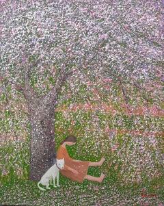 """Pluie de Fleurs"" - zen, quietude, symbolism, spiritual, Asia, imagery, flowers"