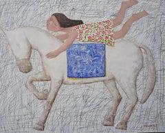 """Voyage"" zen, quietude, symbolism, spiritual, Asia, imagery, horse, horseback"
