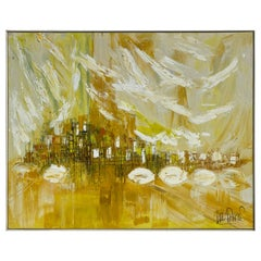 Lee Reynolds Mid-Century Modern Acrylic Painting