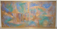 Lee Reynolds Vanguard Studios Mid Century Abstract Oil Painting c.1960s