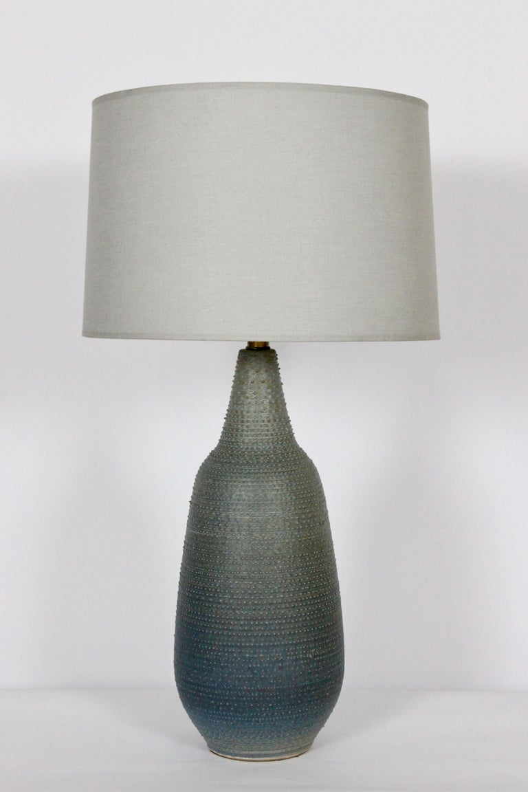 Lee Rosen Design-Technics Gradated Slate Blue to Army Green Stippled Table Lamp For Sale 3