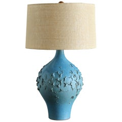 Lee Rosen for Design Technics Blue Ceramic Lamp, circa 1960