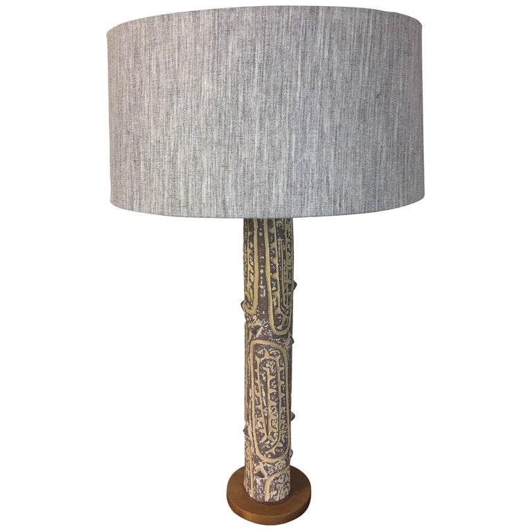 Lee Rosen for Design Technics Ceramic Table Lamp For Sale