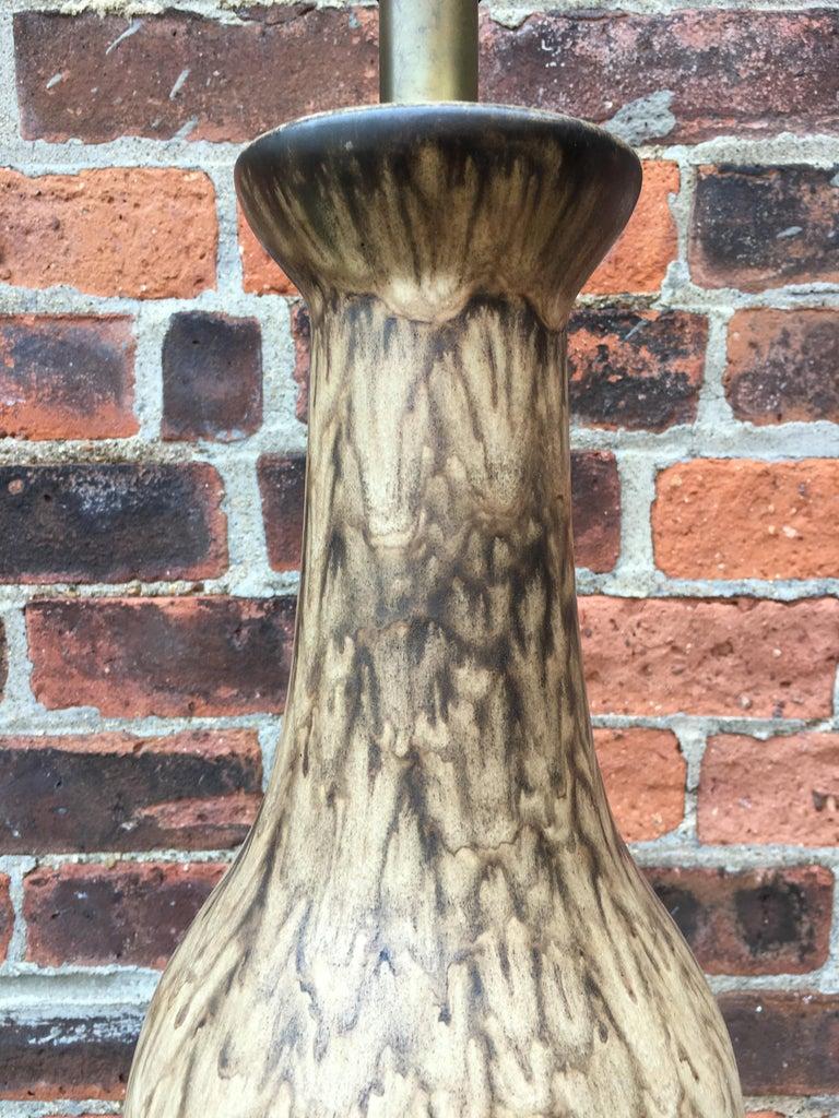 Mid-20th Century Lee Rosen for Design Technics Matte Glaze Pottery Lamp For Sale
