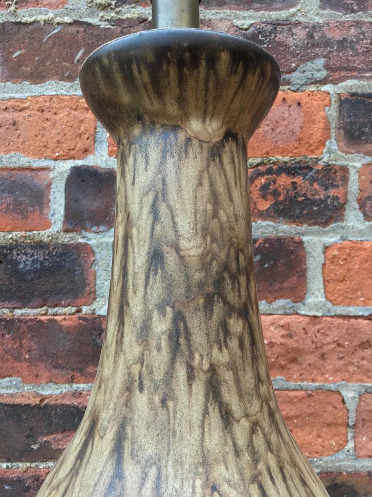 Ceramic Lee Rosen for Design Technics Matte Glaze Pottery Lamp For Sale