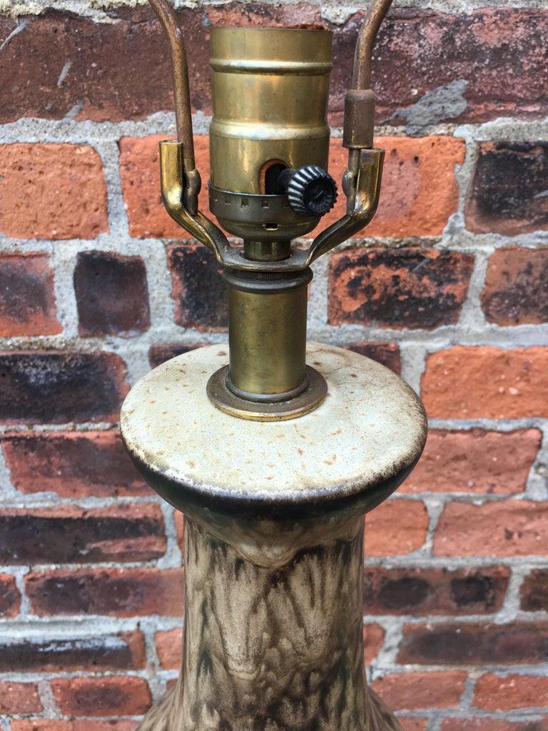 Lee Rosen for Design Technics Matte Glaze Pottery Lamp For Sale 1
