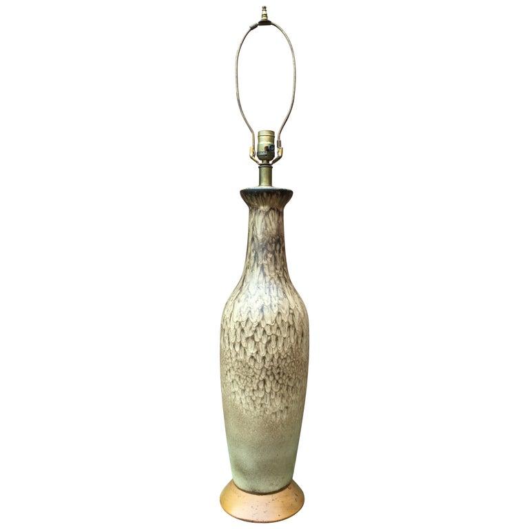 Lee Rosen for Design Technics Matte Glaze Pottery Lamp For Sale
