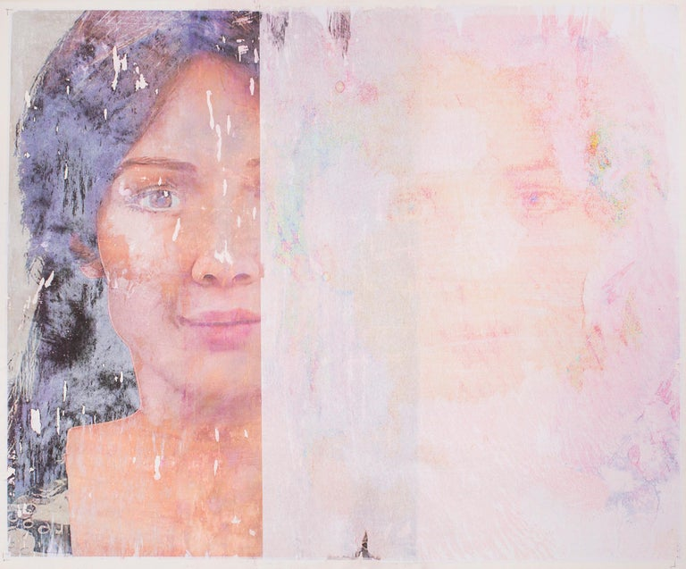 Portraits of Androids, Double Sophia  - Painting by Lee Wells