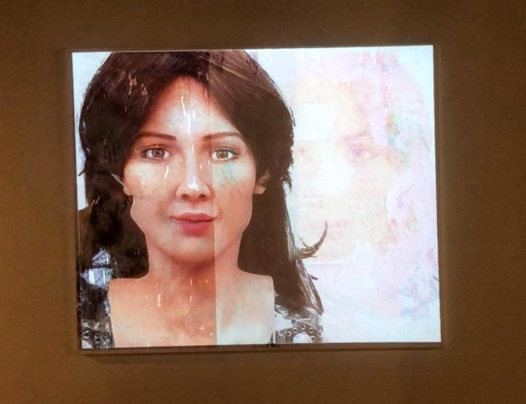 Portraits of Androids, Double Sophia  - Contemporary Painting by Lee Wells