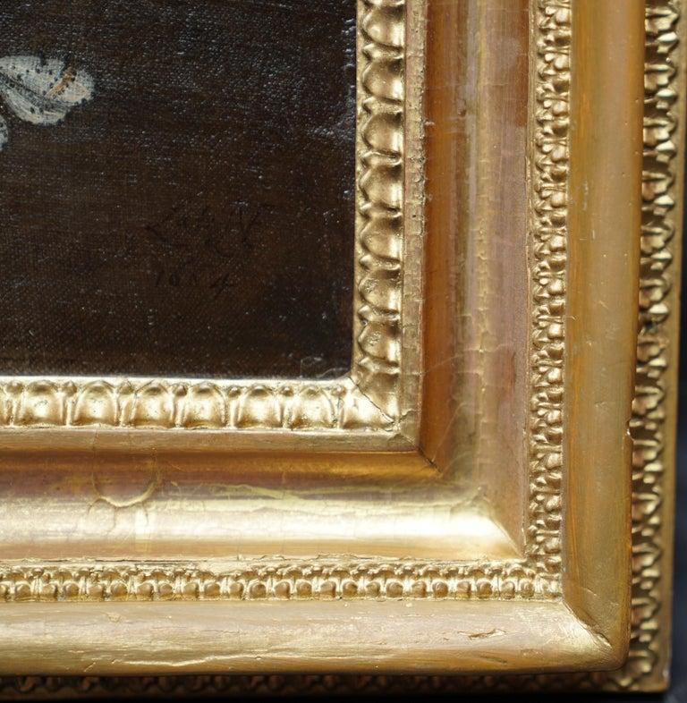 Still Life Arrangement - Dutch Old Master 17thC art oil painting fruit butterfly For Sale 6