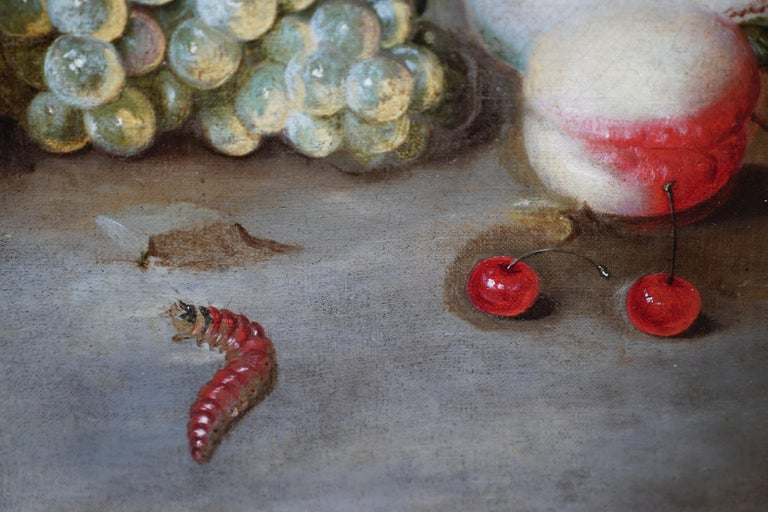 Still Life Arrangement - Dutch Old Master 17thC art oil painting fruit butterfly For Sale 2