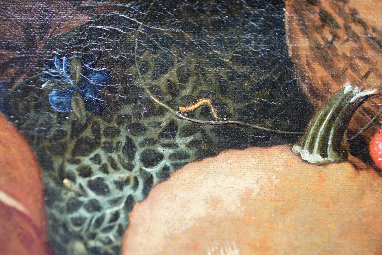 Still Life Arrangement - Dutch Old Master 17thC art oil painting fruit butterfly For Sale 3