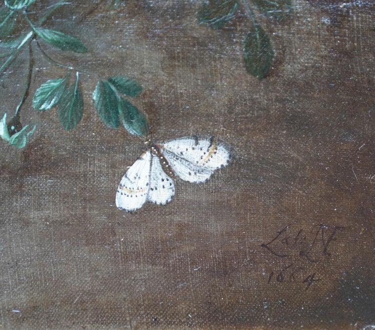 Still Life Arrangement - Dutch Old Master 17thC art oil painting fruit butterfly For Sale 4