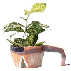 Leg Up Handmade Terra-Cotta Planter Unique Edition