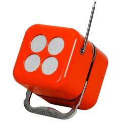 Legendary Orange Cube Radio by Dario & Mario Bellini for Siemens, 1968