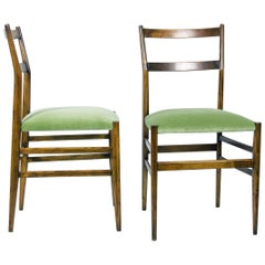 Leggera Dining Chairs by Gio Ponti for Cassina, 1950s, Set of 2