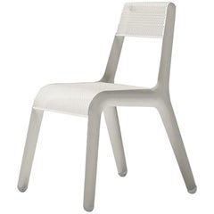 Leggera Polished White Matt Color Carbon Steel Seating by Zieta