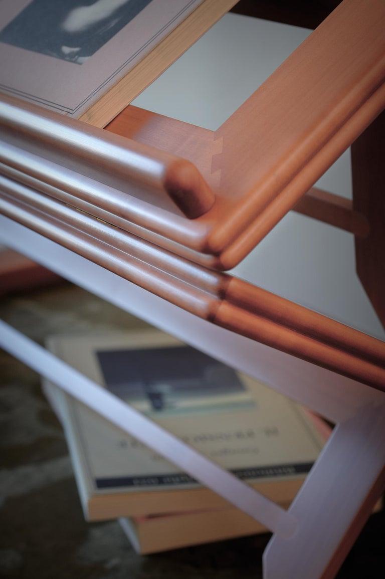 Gae Aulenti Leggio d'Orsay Collapsable Wooden Book Stand by Bottega Ghianda In New Condition For Sale In Valmadrera, IT
