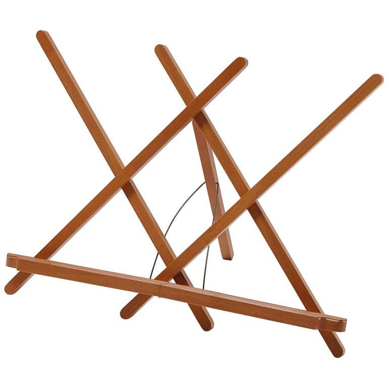 For Sale: Orange (Pearwood) Leggio Pieghevole Folding Wooden Music Stand by Bottega Ghianda