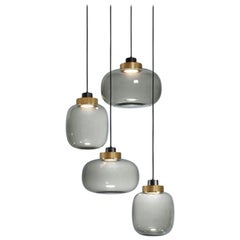 Legier Contemporary Chandelier Blown Glass Murano Inspired by Corrado Dotti