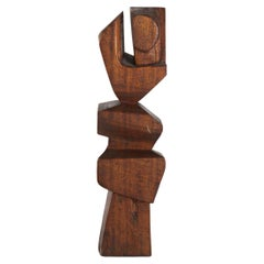 Lehman Wood Modernist Sculpture, circa 1960