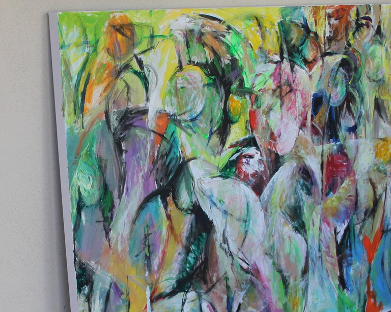 Painting, Bright Colors, Abstract, Expressive, Movement - 6.2019 by Lei Tang For Sale 1