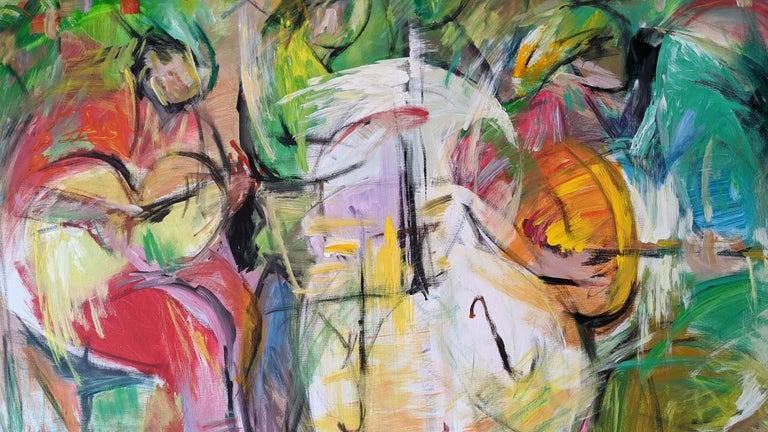 Painting, Cello, Base, Music, Colorful by Chinese American Artist For Sale 2