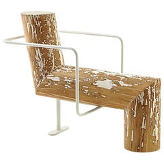 Lei Wood Bench, by Andrea Branzi, Made in Italy