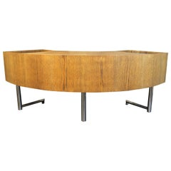 Leif Jacobsen Curved Mid-Century Modern Floating Desk