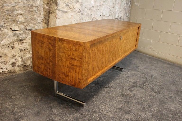 Scandinavian Modern Leif Jacobsen Executive Credenza or Sideboard For Sale