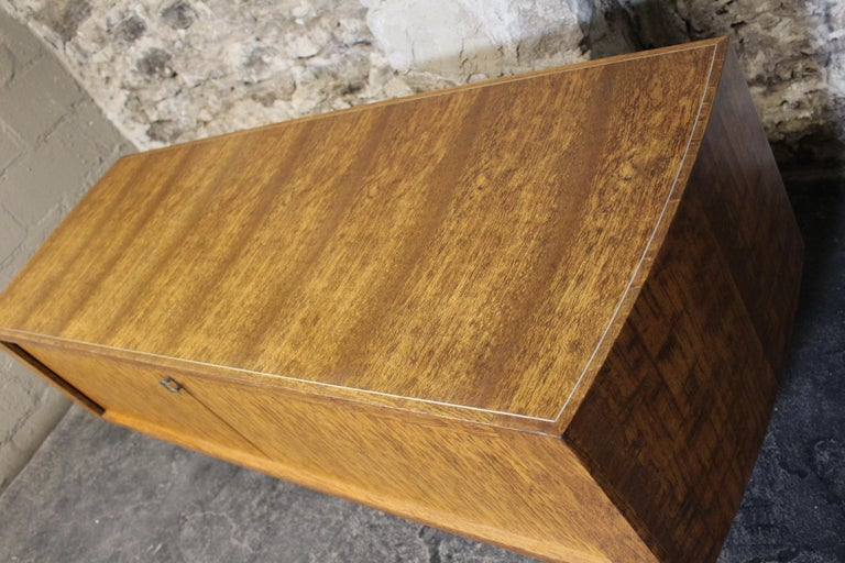 Chrome Leif Jacobsen Executive Credenza or Sideboard For Sale
