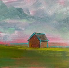 """Prairie, Blue"" Oil Painting"