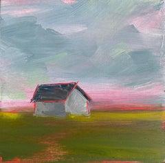 """""""Prairie, Red"""" Oil Painting"""