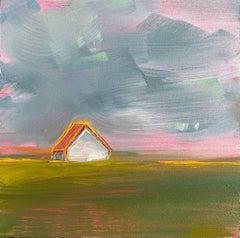 """Prairie, Yellow"" Oil Painting"