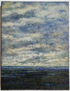 Untitled VIII (Encaustic Hudson River School Style Encaustic Landscape Painting)