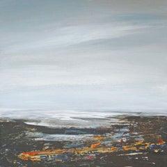 Coast I - contemporary acrylic painting board landscape coastline