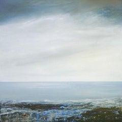 Coastal Reflections - contemporary acrylic painting landscape coastline