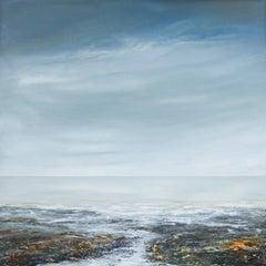 Coming In - Abstracted seascape Painting Contemporary modern art 21st Century