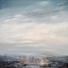 Inner Solace - Abstract water Landscape ocean painting Contemporary Modern art