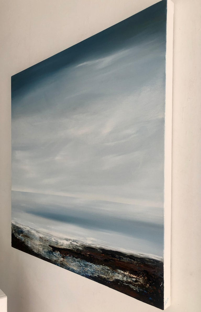 Light on the Water - landscape sea ocean Painting Contemporary modern For Sale 1