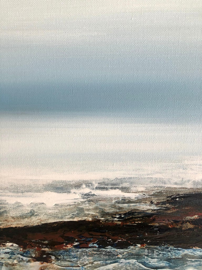 Light on the Water - landscape sea ocean Painting Contemporary modern For Sale 2