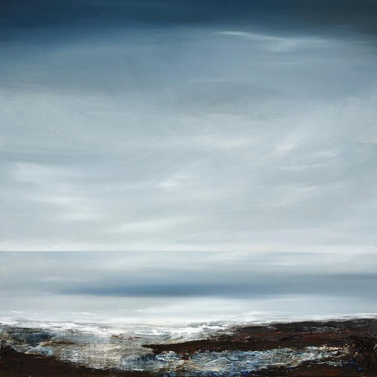 Leila Godden UA Abstract Painting - Light on the Water - landscape sea ocean Painting Contemporary modern