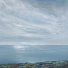 Majestic Sky - contemporary acrylic painting landscape coastline