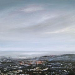 Reflection Pools - contemporary acrylic painting on board, landscape coastline