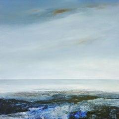 Sapphire Coast - contemporary acrylic painting landscape coastline
